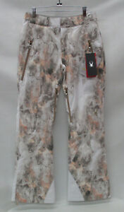 Spyder Womens Kaleidoscope Insulated Ski Pants 564223 White Alchemy Print Size 8