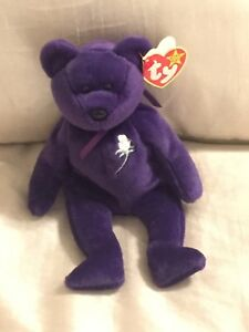 Ty Beanie Baby ~ PRINCESS the (Diana) Bear from 1997 ~ RARE 1st edition ~ MINT