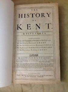 The History of Kent in Five Parts Volume One 1719