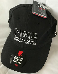 Under Armour UA NGC Nicklaus Golf Club Black The Pipes Men's OSFA Hat Cap PGA