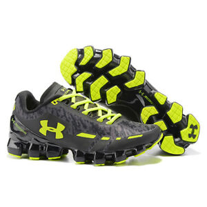 New Men's Under Armour Mens UA Scorpio Running Shoes Black & green Leisure shoes