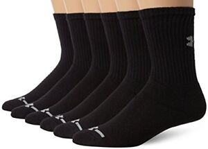 Under Armour Men's Charged Cotton Crew Socks (6 Pack) - Choose SZColor