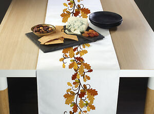 Fall Foliage Border Table Runners 12quot; x 72quot; or 14quot; x 108quot;