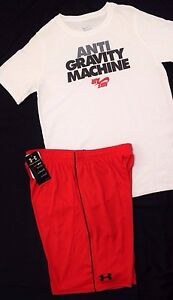 NWT~BOY'S UNDER ARMOUR DRI-FIT SHORTS & NIKE COTTON T-SHIRT YOUTH X-LARGE 18-20~