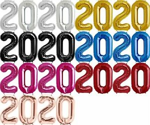 2020 Mylar Foil 34 inch Number Balloon Set Perfect for Graduation