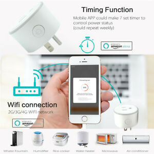 US Plug Remote Control Timer Switch WiFi Smart Power Socket Outlet