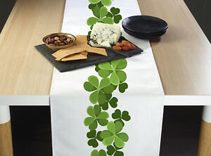 Clover Garland Border Table Runners 12quot; x 72quot; or 14quot; x 108quot;