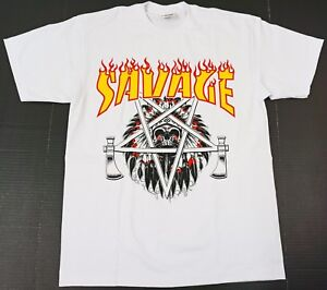 INDIAN T-Shirt Native American Warrior Chief Skull Savage Tee Men White New