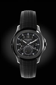 Patek Philippe 5164A Aquanaut Travel Time Dual Time Zone DLCPVD on Rubber Strap