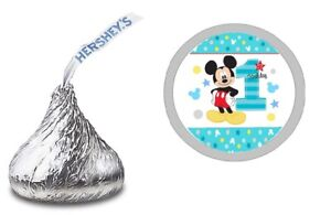 MICKEY MOUSE CUSTOM HERSHEY KISS KISSES LABELS STICKERS BIRTHDAY PARTY FAVORS #3