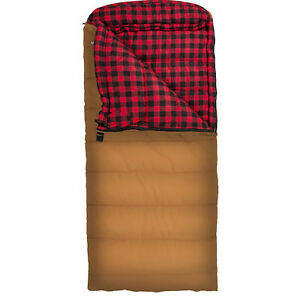 X Large Brown Sleeping Bag Double Layer Camping Equipment Gear 0 Degree 90x39in