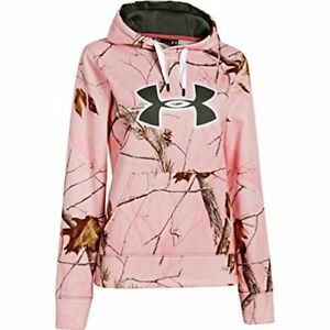 Under Armour UA Camo Big Logo Hoody - Womens Realtree AP PinkWhiteRifle Small