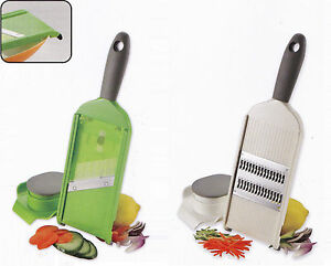Adjustable Mandolin Vegetable/Fruit Slicer Julienne Cutter Chopper + Guard