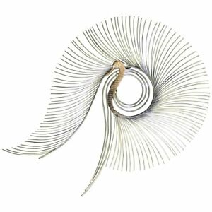 Contemporary Modern Jere Large Brass Peacock Hanging Wall Sculpture 1980s Signed