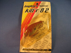 BAGLEY  KILLER B 2  FISHING LURE    DC  LOOK AT PACKAGING!!!!