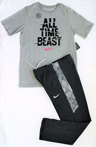 NWT ~~BOY'S NIKE DRY FIT TRAINING PANTS & T-SHIRT YOUTH SIZE LARGE (14-16)~~