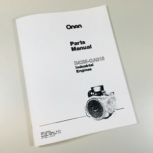 GRAVELY 816 GARDEN TRACTOR ONAN B43M GA016 ENGINE PARTS MANUAL CATALOG ASSEMBLY
