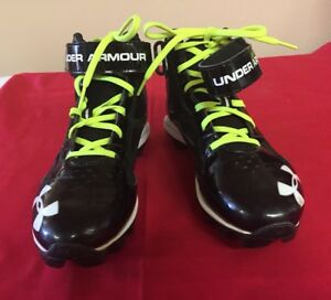 Under Armour Cleats Shoes Boys Football High Tops 6Y Baseball