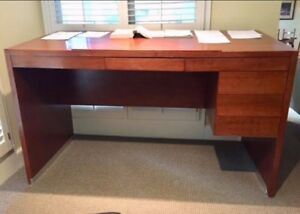 Beautiful Contemporary Custom made Solid Maple Standing Desk with Slant Top