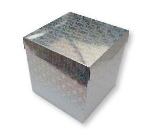 10 CRYSTAL SILVER 6 x 6x 6 GIFT BOX HAMPER COSMETICS SCARVES LINGERIE
