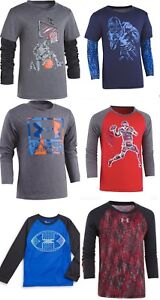 New Under Armour Boys Graphic Raglan Slider Shirt Size 2T 3T 4 5 6 and 7