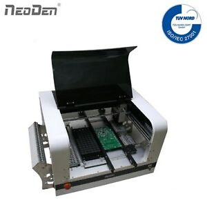 Low Cost Pick n Place Machine NeoDen4 15 Feeders 6 Nozzles Auto Rails BGA 0201
