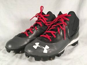 Kids Under Armour Baseball Shoes Size 6Y Black Red