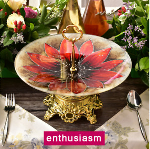 Tempered Glass Plates Fruit Pastry Cake Stand Creation Home Decor