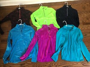6 pc lot of Champion Women's Duo Dry 14 zip pullover -XS