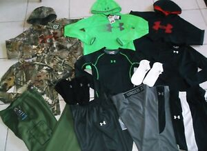 UNDER ARMOUR BOY'S SIZE XLARGE 15 PIECE ATHLETIC WINTER LOT IN EUC AND NWT!