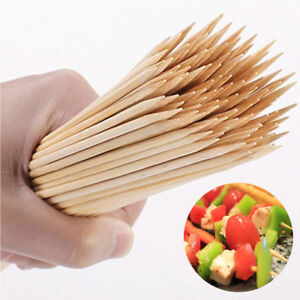 100pc 6'' 8'' 10inch Bamboo Skewers Wooden BBQ Sticks for Shish Grill Kabobs LOT