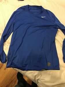 NIKE MENS DRY-FIT PRO COOL FITTED LS SHIRT Sz 2XL Royal Blue 703100-480 NEW $32