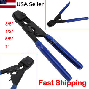 PEX Cinch Crimp Crimper Crimping TOOL for SS Hose Clamps Sizes from 38