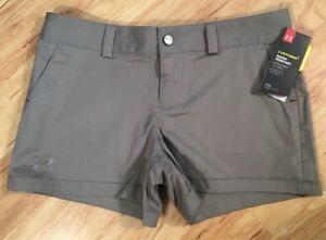 NEW $49.99 Size 6 Perfect Fit Under Armour Storm 1 Stay Dry Shorts 3.5 Mushroom