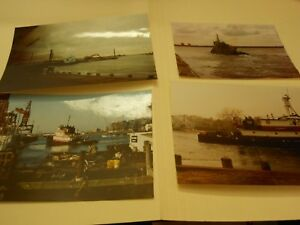 34 ORIGINAL PHOTOGRAPHS OF WORK BOATS AND TUGS IN NYC AREA $20.00