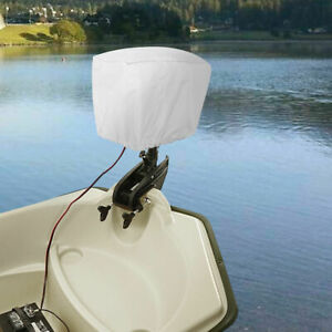 Grey 600D Polyester Waterproof UV Resistant Outboard Motor Hood Cover Full Size