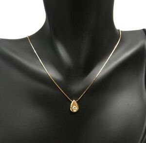 NICE 14K YELLOW GOLD DIAMOND PENDANT NECKLACE NO RESERVE