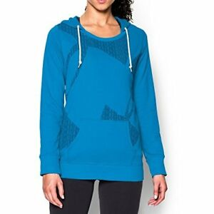 Under Armour Women's UA Favorite French Terry Popover Medium ELECTRIC BLUE