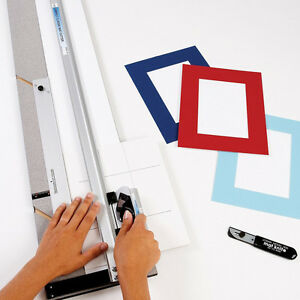 Large Beveled Mat Cutter Poster Board Picture Framing Cutting Tool Kit 32in Set