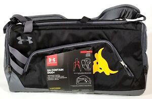 Under Armour X Project Rock UA Contain Duo+ Duffle Bag Gym Sports Backpack SZ L