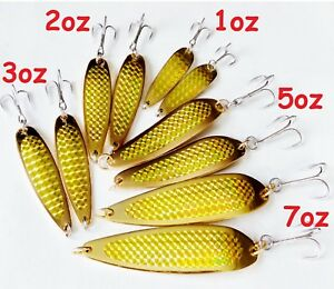 Gold Casting Crocodile Fishing spoons Choose Weight amp; Pieces 2 to 20