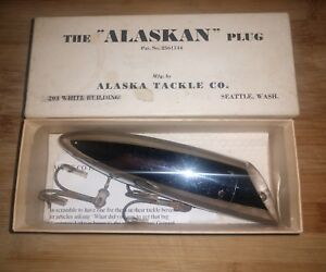 Alaskan Tackle Salmon Plug Vintage Antique Fishing Lure