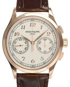 Patek Philippe 5170R-001 Chronograph Rose Gold 39mm on Brown Strap 39.4mm