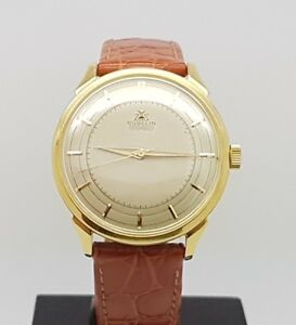 Fine & Very Rare Vintage 18K Gold Automatic Gubelin IPSO-MATIC Men Watch