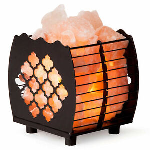CRYSTAL DECOR Natural Himalayan Salt Lamp Hybrid Wired Basket with Dimmable Cord $25.99
