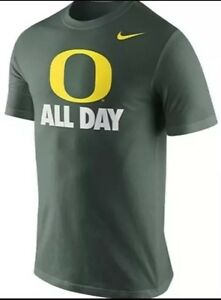 New Nike Oregon Ducks Dry Fit T-Shirt O All Day Green Youth Small