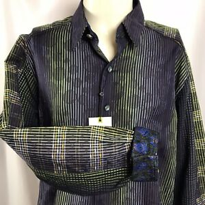 Robert Graham GAGANA Limited Edition Sport Shirt XL Button Front NEW With Tags