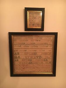 Antique Sampler 1825 & 1830 Sarah Ann Heatherington