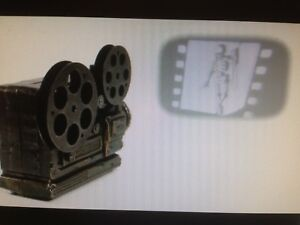 ANIMATED HAUNTED SKELETON DANCING ON WALL MOVIE REEL PROJECTOR