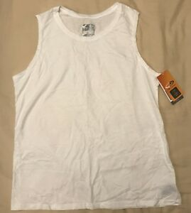 C9 by Champion Men's Sleeveless Long & Lean Fit Shirt White Size XL Duo Dry NWT